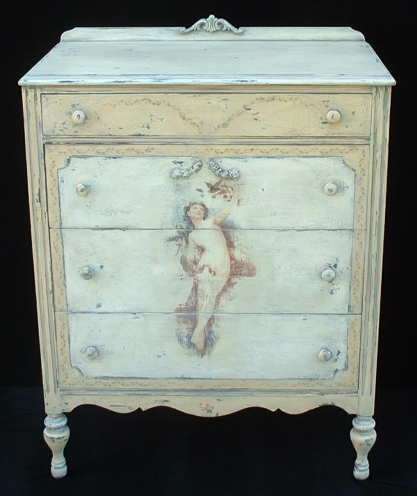 Painted antique furniture for Ivory painted bedroom furniture
